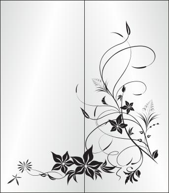 floral изображение для пескоструя цветочные орнаменты флора