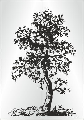 trees изображение для пескоструя деревья
